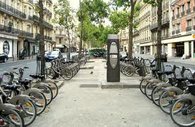 Typical Parisian Velib station